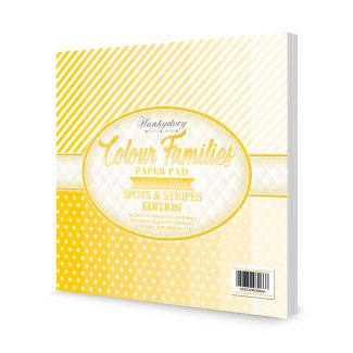 Colour Families Spots & Stripes Paper Pad - Yellow