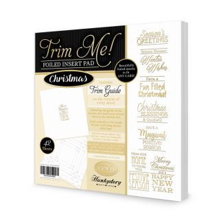 Hunkydory Trim Me! Gold Foiled Christmas Insert Pad