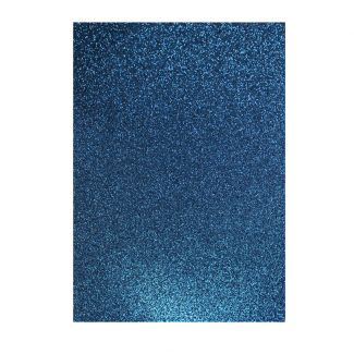 Glitter Card - Dark Blue x 5 sheets