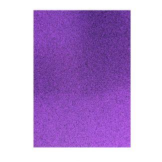 Glitter Card - Purple x 5 sheets