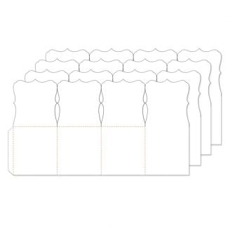 Fancy Shaped Card Blanks - Pop-up Box x 4 cards (fits A5 envelope)