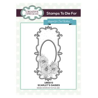 Stamps to Die For - Scarlet's Daisies Stamp