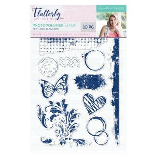 Flutterby - Photopolymer Stamp - Textured Elements