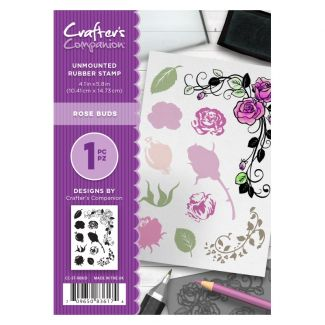 CC - A6 Rubber Stamp - Rose Buds