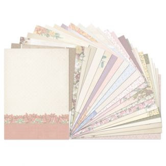 Birth Flowers Luxury Card Inserts (24 sheet pack)