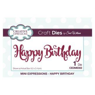 Sue Wilson Die - Mini Expressions - Happy Birthday