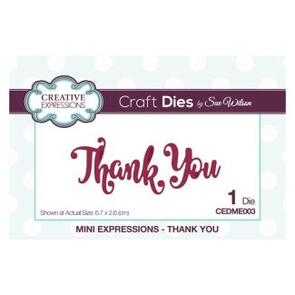Sue Wilson Die - Mini Expressions - Thank You