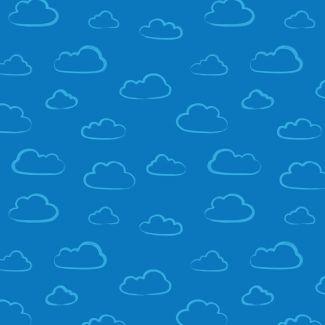 Stuart Hillard - Rainbow Etchings - Cloud on Mid blue