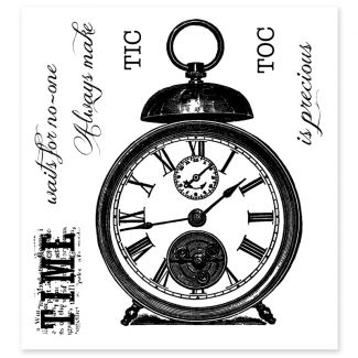 Woodware Clear Stamp - Tic Toc