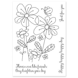 Woodware Clear Stamp - Summer Meadow
