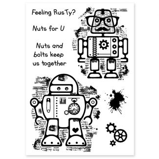 Woodware Clear Stamp - Rusty Robots