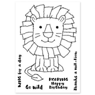 Woodware Clear Stamp - Raggy Lion