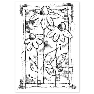 Woodware Clear Stamp - Sketched Daisies