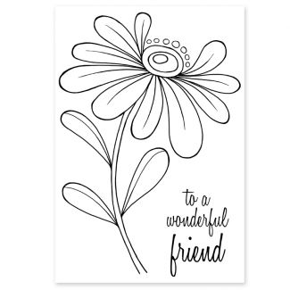 Woodware Clear Stamp - Whimsical Flower - Alice