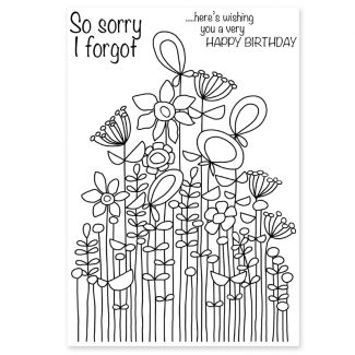 Woodware Clear Stamp - Long Tall Sally Bunch