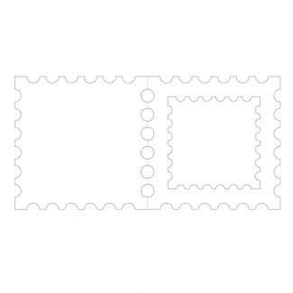 "Postage Stamp Aperture Card Blanks - 6"" x 6"""