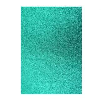 Glitter Card - Mid Green