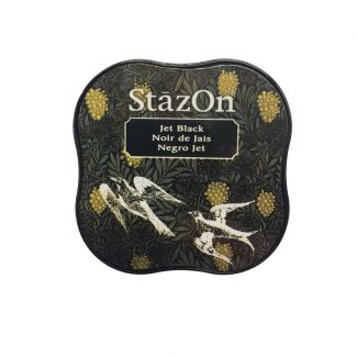 StazOn Midi Permanent Pads - Jet Black