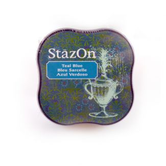 StazOn Midi Permanent Pads - Teal Blue