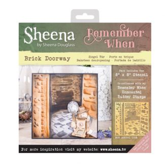 Sheena 'Remember When' Stencils - Brick Doorway