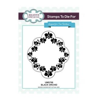 Sue Wilson Stamps to Die For - Black Orchid Stamp