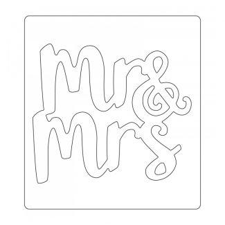 Bigz Die - Mr & Mrs x 1 die (11.75cm x 10.16cm)