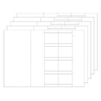 Fancy Shaped Card Blanks - Zig-Zag Kinetic
