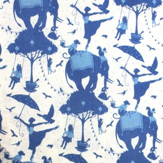 Tilda - Fat Quarters - Circus Life - blue