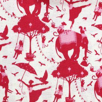 Tilda - Fat Quarters - Circus Life - red