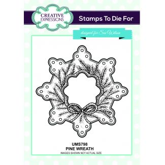 Stamps to Die For - Pine Wreath