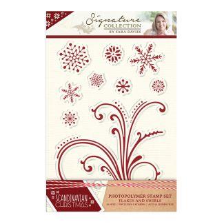 Scandinavian Christmas - Stamp - Flakes and Swirls