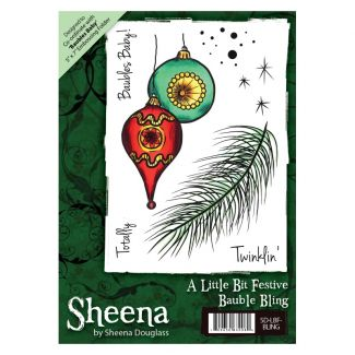 Sheena A6 Xmas Stamp - Bauble Bling