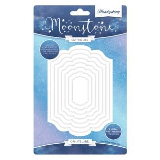 Moonstone Nesting Dies - Ornate Label