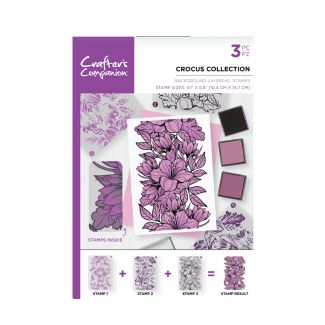CC - A6 Background Layering Stamps - Crocus Collection x 3 stamps