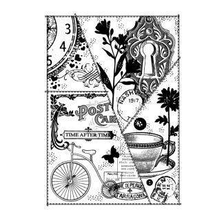 Woodware Clear Stamp - Vintage Patchwork