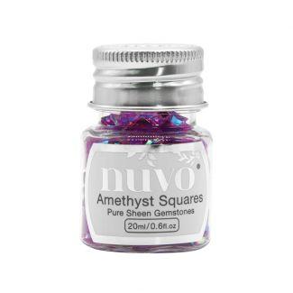 Nuvo Gemstones - Amethyst squares