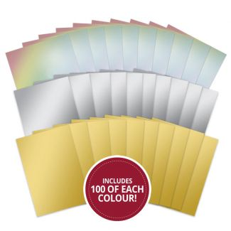 Mirri Card Megabuy - Gold, Silver & Rainbow Mirri 300 SHEETS!