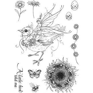 Pink Ink Designs A5 Clear Stamp - Bird Sprite