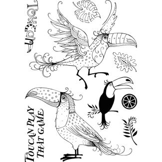 Pink Ink Designs A5 Clear Stamp - Toucan
