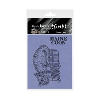 It's A Cat's Life Clear Stamp - Maine Coon