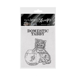 It's A Cat's Life Clear Stamp - Domestic Tabby