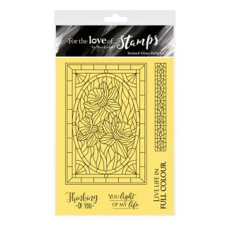 For the Love of Stamps - Stained Glass Delights