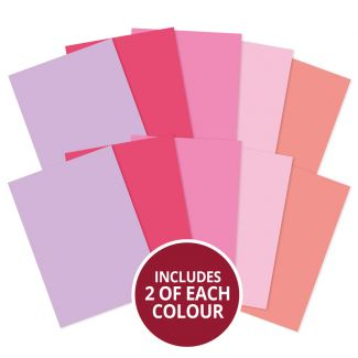 Adorable Scorable A4 Cardstock x 10 sheets - Pinks