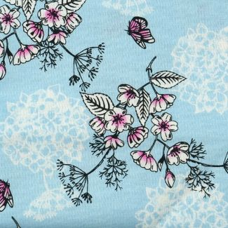 Sarah Payne Eastern Botanicals - Flower Outline Blue