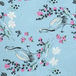 Sarah Payne Eastern Botanicals - Crane on Blue