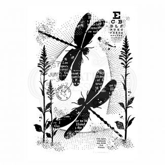 Woodware Clear Stamp - Dancing Dragonflies