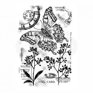 Woodware Clear Stamp - Vintage Swallowtail