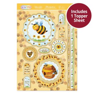 Pick 'N' Mix Topper Sheet - Bee Happy