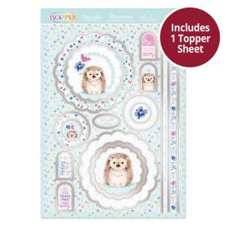 Pick 'N' Mix Topper Sheet - Happy Little Hedgehog