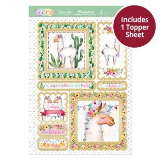 Pick 'N' Mix Topper Sheet - Llama Love